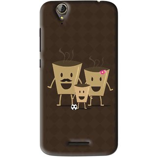 Snooky Printed Wake Up Coffee Mobile Back Cover For Acer Liquid Z630S - Brown