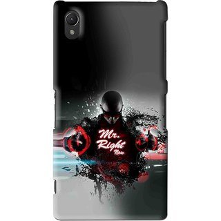 Snooky Printed Mr.Right Mobile Back Cover For Sony Xperia Z2 - Multi