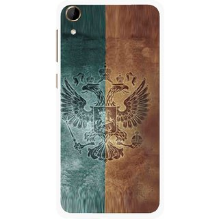 Snooky Printed Eagle Mobile Back Cover For HTC Desire 728 - Multi