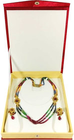 Atorakushon Multipurpose Necklace Earring bangle bracelet set half set box Jewelry Makeup Vanity Box  (Maroon)