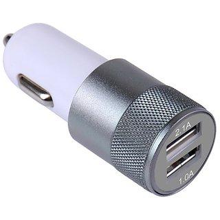 12V 2.1A 1.0A Aluminium 2-port USB Universal Car Charger Adapter