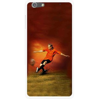 Snooky Printed Football Mania Mobile Back Cover For Oppo R1 - Multi