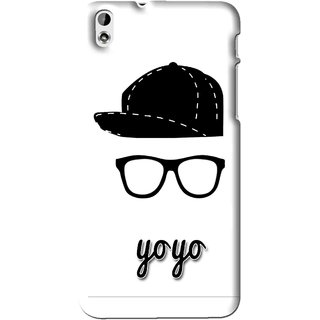 Snooky Printed Yo Yo Mobile Back Cover For HTC Desire 816 - Multi