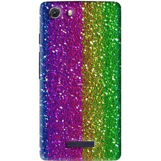 Snooky Printed Sparkle Mobile Back Cover For Micromax Canvas Unite 3 - Multi
