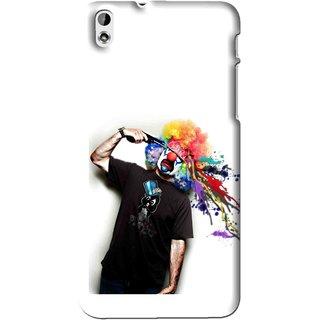 Snooky Printed Shooting Joker Mobile Back Cover For HTC Desire 816 - Multi