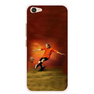 Snooky Printed Football Mania Mobile Back Cover For Vivo V5 Plus - Multi