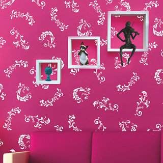 Arhat Stencils Glossy PVC FLORAL Wall Stencils E-136