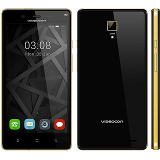 Videocon Z55 Krypton (1 GB,8 GB,Black)