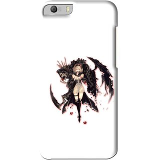 Snooky Printed Kungfu Girl Mobile Back Cover For Micromax Canvas Knight 2 E471 - Multi