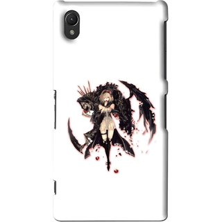 Snooky Printed Kungfu Girl Mobile Back Cover For Sony Xperia Z2 - Multi