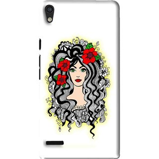Snooky Printed Tarro Girl Mobile Back Cover For Huawei Ascend P6 - Multi