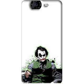 Snooky Printed Joker Mobile Back Cover For Micromax Canvas A350 - Multi