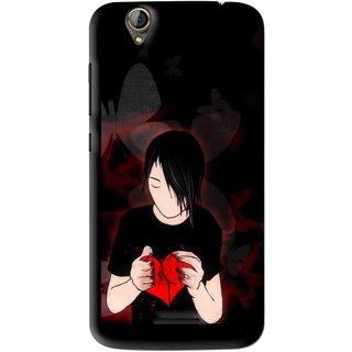 Snooky Printed Broken Heart Mobile Back Cover For Acer Liquid Z630S - Multi