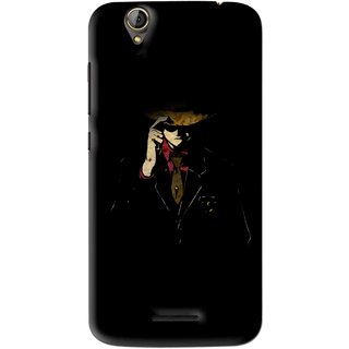 Snooky Printed Cow Bow Mobile Back Cover For Acer Liquid Z630S - Multi