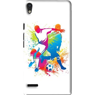 Snooky Printed Footbal Mania Mobile Back Cover For Huawei Ascend P6 - Multi