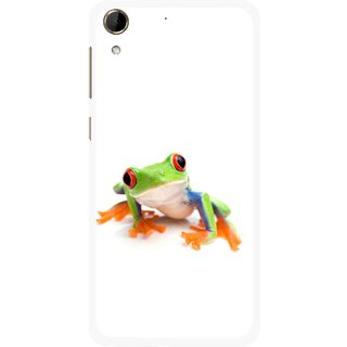 Snooky Printed Frog Mobile Back Cover For HTC Desire 728 - Multi
