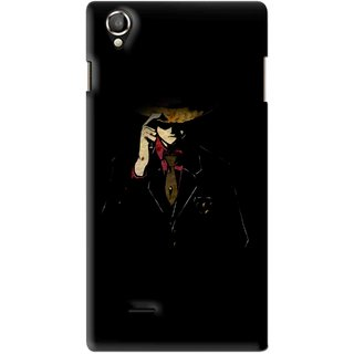 Snooky Printed Cow Bow Mobile Back Cover For Lava Iris 800 - Multi