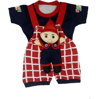Kid n Kids Unisex Romper With Soft Toy Patched