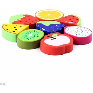 Coi Cute Fruit Set Of Eight Pencil Erasers For Kids