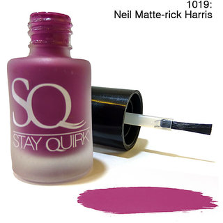Stay Quirky Nail Polish Matte Finish Mauve Neil Matte-rick Harris 1019 (6 ml)
