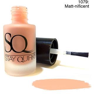 Stay Quirky Nail Polish Matte Finish Pastel Matt-nificent 1079 (6 ml)