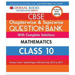 OSWAL CBSE CHAPTERWISE  TOPICWISE QUESTION BANK MATHEMATICS  CLASS 10