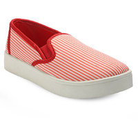 Canvas Women's Red Sneakers