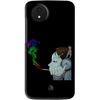 Snooky Printed Color Of Smoke Mobile Back Cover For Micromax Canvas Android One - Multi
