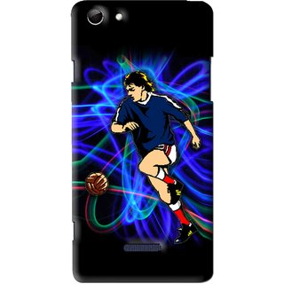 Snooky Printed Football Passion Mobile Back Cover For Micromax Canvas Selfie 3 Q348 - Multi
