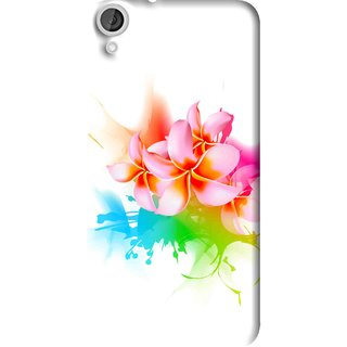 Snooky Printed Colorfull Flowers Mobile Back Cover For HTC Desire 820 - Multi