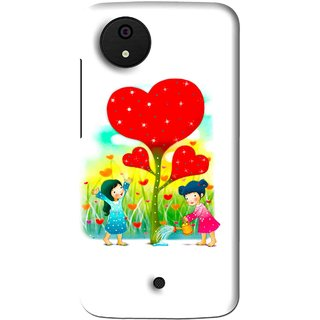 Snooky Printed Heart Plant Mobile Back Cover For Micromax Canvas Android One - Multi
