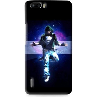 Snooky Printed Hug Me Mobile Back Cover For Huawei Honor 6 Plus - Multi