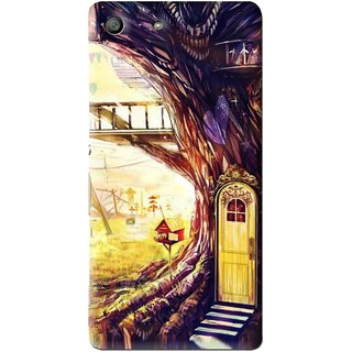 Snooky Printed Dream Home Mobile Back Cover For Sony Xperia M5 - Multi
