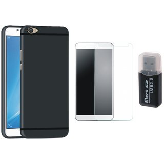Motorola G5s Plus Cover with Memory Card Reader, Tempered Glass