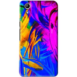 Snooky Printed Color Bushes Mobile Back Cover For Micromax Canvas Selfie Lens Q345 - Multi