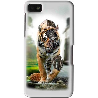 Snooky Printed Mechanical Lion Mobile Back Cover For Blackberry Z10 - Multi