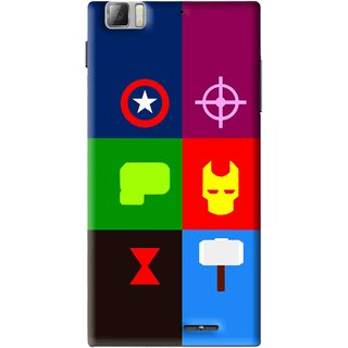 Snooky Printed Multi Heros Mobile Back Cover For Lenovo K900 - Multi