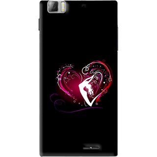 Snooky Printed Lady Heart Mobile Back Cover For Lenovo K900 - Multi