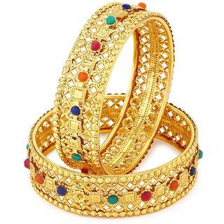 Shostopper Delightful Gold Plated Bangle Set For Women