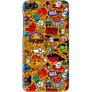 Snooky Printed Freaky Print Mobile Back Cover For Huawei Honor 6 - Multi
