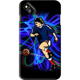 Snooky Printed Football Passion Mobile Back Cover For Micromax Bolt D303 - Multi
