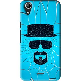 Snooky Printed Beard Man Mobile Back Cover For Micromax Bolt Q338 - Multi