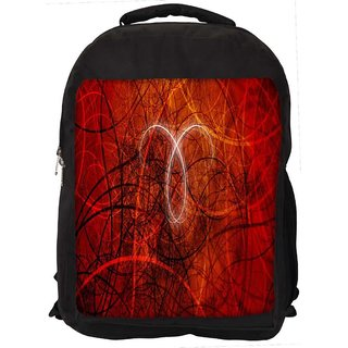 Abstract Red Design Digitally Printed Laptop Backpack