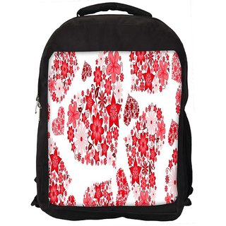 Floral Hearts Holiday Digitally Printed Laptop Backpack