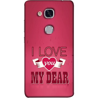 FUSON Designer Back Case Cover For Huawei Honor 5c :: Huawei Honor 7 Lite :: Huawei Honor 5c GT3 (Pyar Hai Tumse Heart Pink Red True )