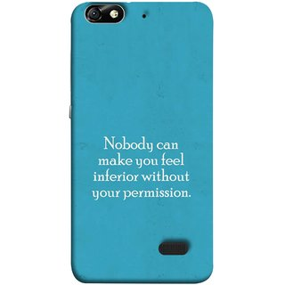 FUSON Designer Back Case Cover For Huawei Honor 4C :: Huawei G Play Mini (Permission Motivational Inspirational Saying Quotes)