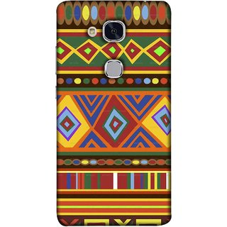 FUSON Designer Back Case Cover For Huawei Honor 5c :: Huawei Honor 7 Lite :: Huawei Honor 5c GT3 (Tribal Patterns Colourful Eye Catching Verity Different )