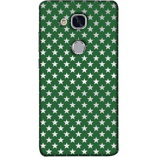 FUSON Designer Back Case Cover For Huawei Honor 5c :: Huawei Honor 7 Lite :: Huawei Honor 5c GT3 (Small Lot Of Stars Green Back Shining Glossy)