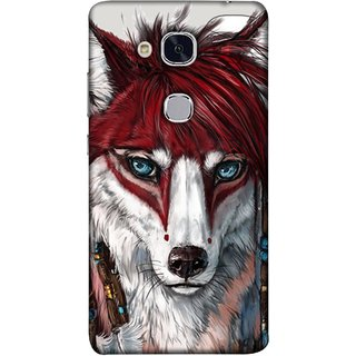 FUSON Designer Back Case Cover For Huawei Honor 5c :: Huawei Honor 7 Lite :: Huawei Honor 5c GT3 (Blue Eyes Girl Hairs Hairstyles Wolf Large Ears)