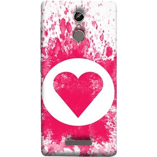 FUSON Designer Back Case Cover For Gionee S6 (Pink Red Wallpapers Flowers Lovers Boyfriends Black)